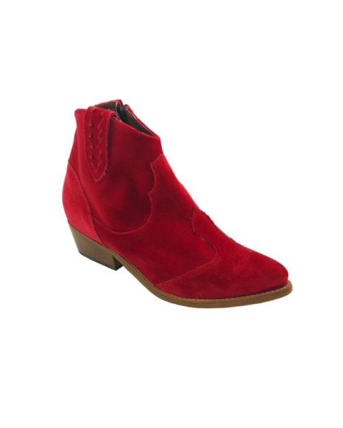 Texano velluto rosso prosp