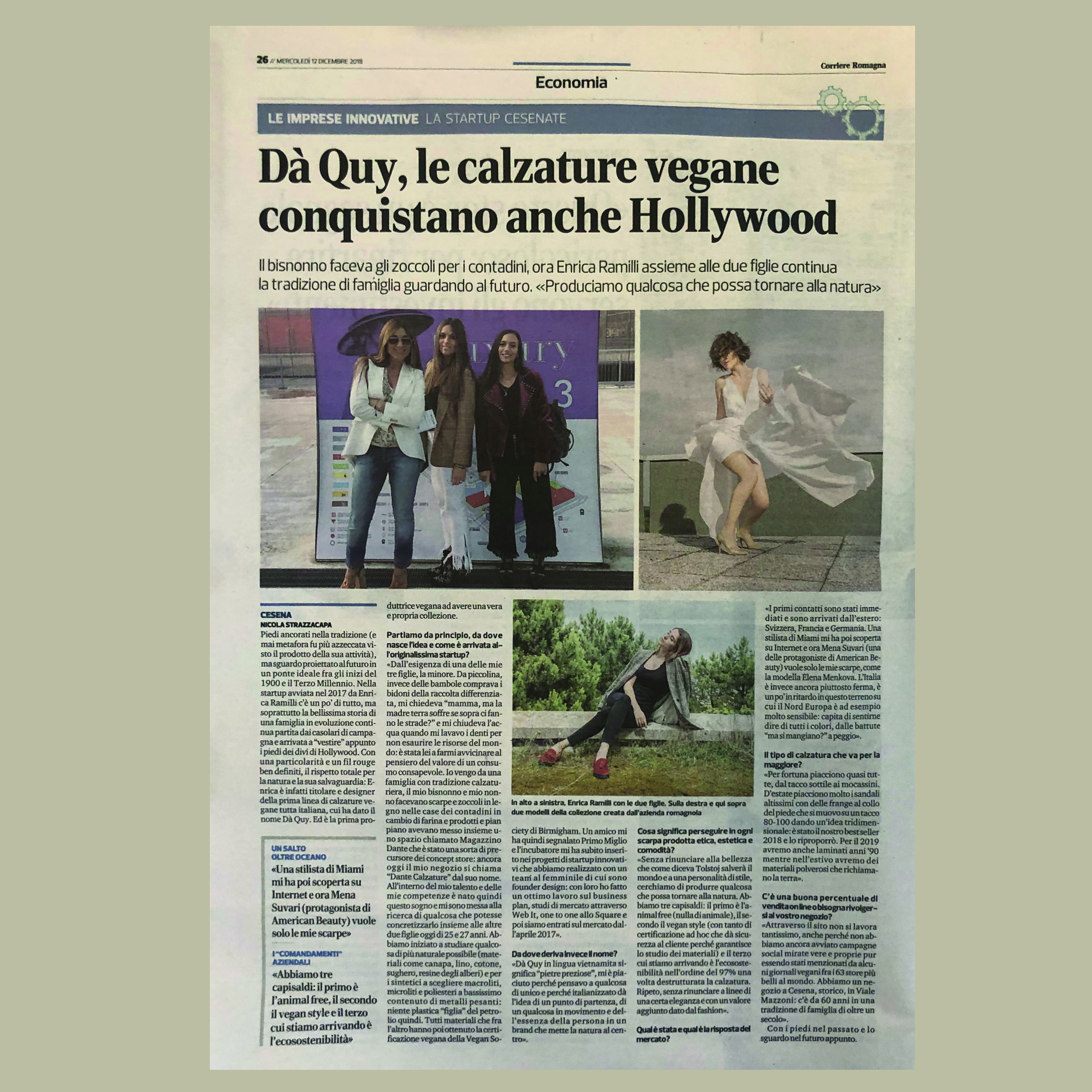 Da Quy is on the newspaper Corriere Romagna!